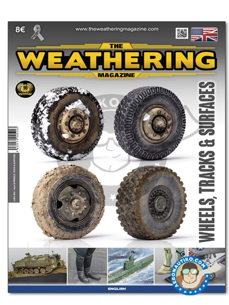 WHEELS, TRACKS & SURFACES (English) | Magazine manufactured by AMMO of Mig Jimenez (ref. A.MIG-4524) image