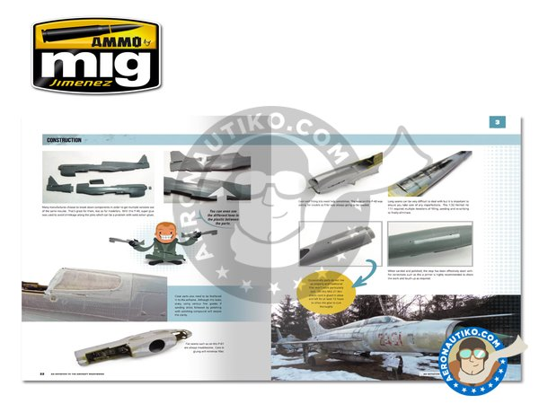 Image 1: Modelling School: Initiation to Aircraft Weathering | Book manufactured by AMMO of Mig Jimenez (ref. A.MIG-6030)