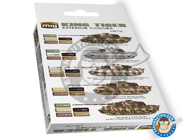 Image 1: King Tiger exterior colors Vol.2 | Paints set manufactured by AMMO of Mig Jimenez (ref. A.MIG-7166)