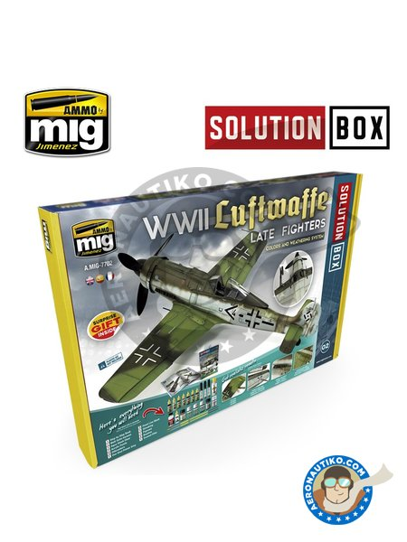 WWII LUFTWAFFE LATE FIGHTERS SOLUTION BOX | Solution box manufactured by AMMO of Mig Jimenez (ref. A.MIG-7702) image