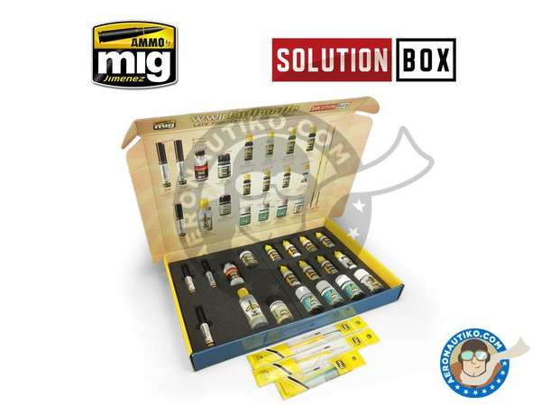 Image 1: WWII LUFTWAFFE LATE FIGHTERS SOLUTION BOX | Solution box manufactured by AMMO of Mig Jimenez (ref. A.MIG-7702)