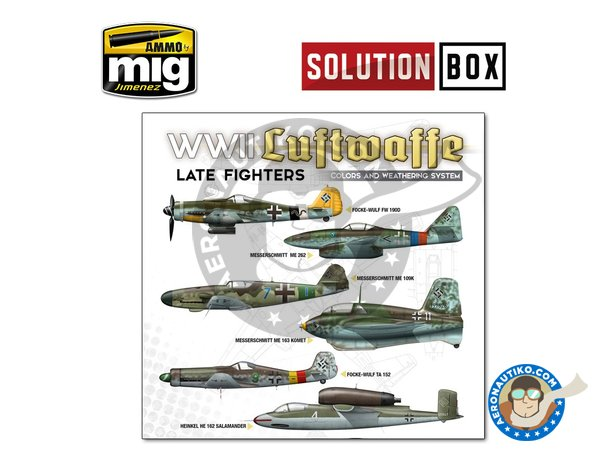 Image 2: WWII LUFTWAFFE LATE FIGHTERS SOLUTION BOX | Solution box manufactured by AMMO of Mig Jimenez (ref. A.MIG-7702)