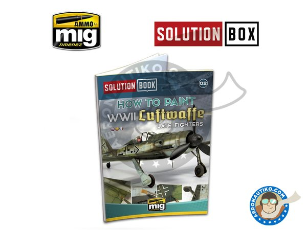 Image 3: WWII LUFTWAFFE LATE FIGHTERS SOLUTION BOX | Solution box manufactured by AMMO of Mig Jimenez (ref. A.MIG-7702)