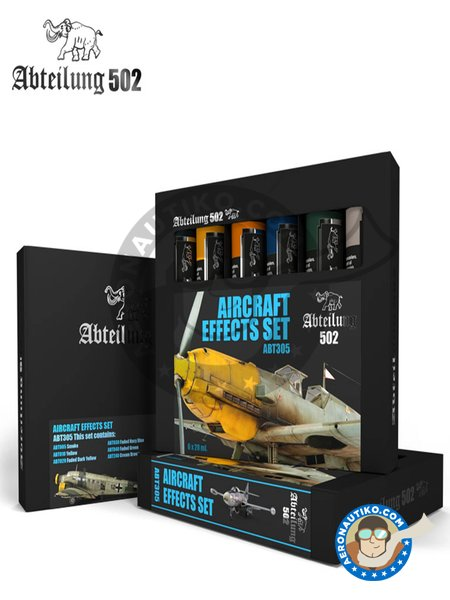 Aircraft effects set. Oil sets. | Oil set. manufactured by Abteilung 502 (ref. ABT305) image