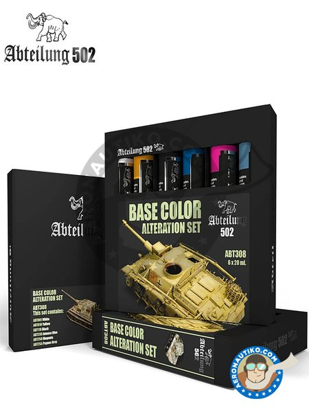 Base color alteration set | Oil set. manufactured by Abteilung 502 (ref. ABT308) image