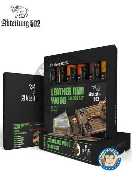 Leather and wood colors set | Oil set. manufactured by Abteilung 502 (ref. ABT315) image