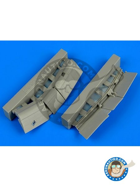 F4U-1 Corsair flaps | Flaps in 1/72 scale manufactured by Aires (ref. 7303) image