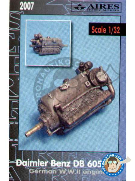 Daimler Benz DB 605A/B engine | Engine in 1/32 scale manufactured by Aires (ref. AIRES-2007) image
