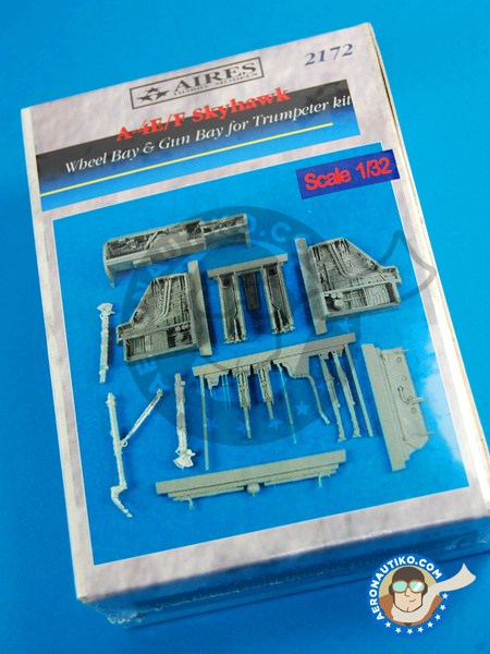 Douglas A-4 Skyhawk E/F | Wheel bay in 1/32 scale manufactured by Aires (ref. AIRES-2172) image