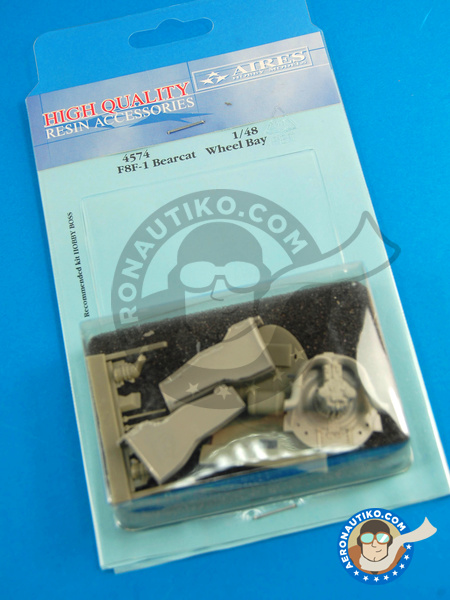 Grumman F8F Bearcat F1 | Wheel bay in 1/48 scale manufactured by Aires (ref. AIRES-4574) image