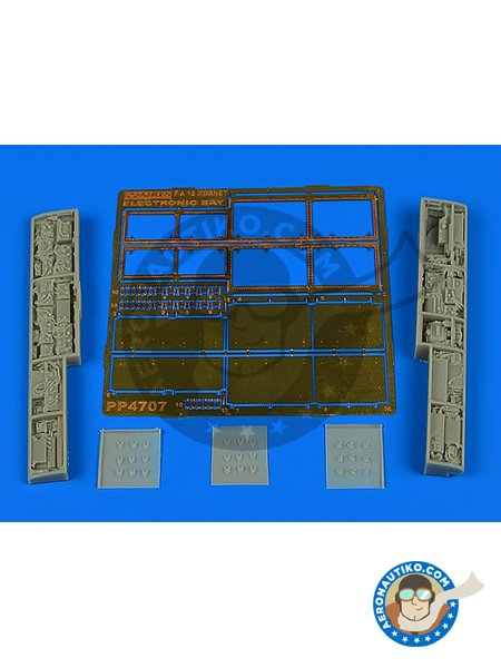 F/A-18 Hornet electronic bay | Electronic bay in 1/48 scale manufactured by Aires (ref. AIRES-4707) image