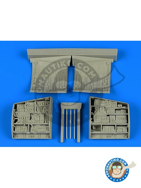 F-15 Eagle electronic bay | Electronic bay in 1/48 scale manufactured by Aires (ref. AIRES-4755) image