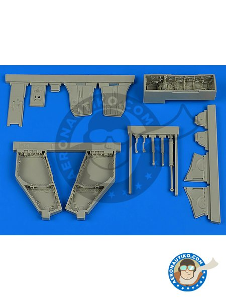 F-4J/S Phantom II wheel bay | Wheel bay in 1/48 scale manufactured by Aires (ref. AIRES-4766) image