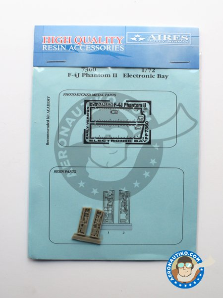 Electronic bay for F-4 Phantom II | Electronic bay in 1/72 scale manufactured by Aires (ref. AIRES-7360) image
