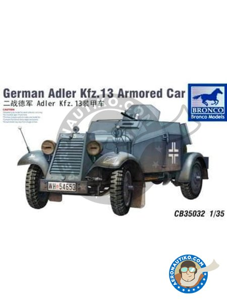 German Adler Kfz.13 | Military vehicle kit in 1/35 scale manufactured by BRONCO MODELS (ref. CB35032) image