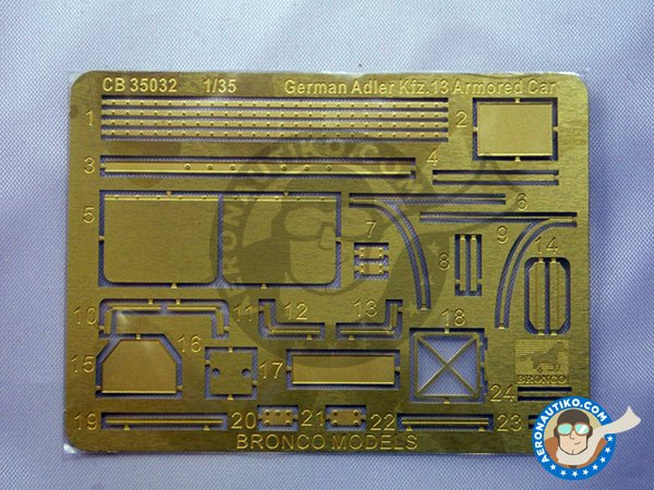 Image 6: German Adler Kfz.13 | Military vehicle kit in 1/35 scale manufactured by BRONCO MODELS (ref. CB35032)
