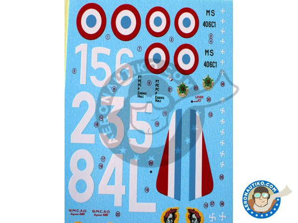 Image 1: Morane Saulnier 406 'La Furie' | Marking / livery in 1/48 scale manufactured by Berna Decals (ref. BD48-132)
