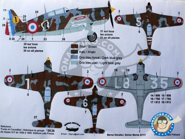 Image 4: Morane Saulnier 406 'La Furie' | Marking / livery in 1/48 scale manufactured by Berna Decals (ref. BD48-132)