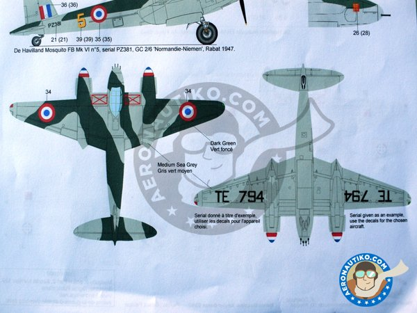 Image 4: De Havilland Mosquito FB Mk VI | Marking / livery in 1/72 scale manufactured by Berna Decals (ref. BD72-99)