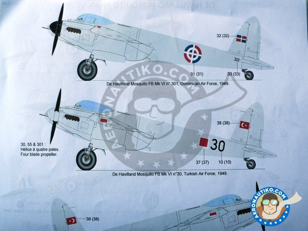 Image 5: De Havilland Mosquito FB Mk VI | Marking / livery in 1/72 scale manufactured by Berna Decals (ref. BD72-99)