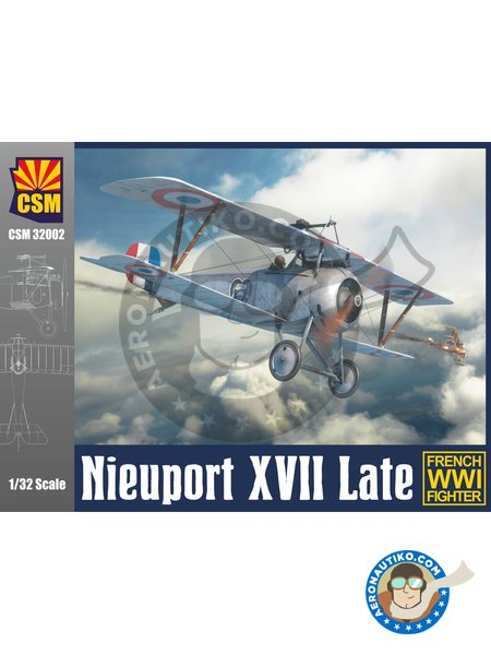 Nieuport XVII Late | Airplane kit in 1/32 scale manufactured by Copper State Models (ref. CSM32002) image
