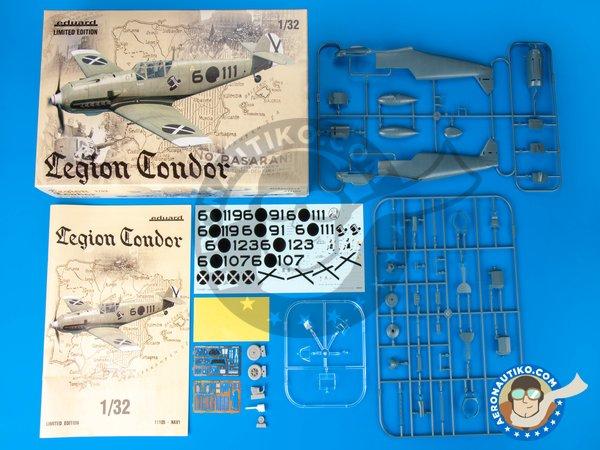 Image 1: Bf 109 Legion Condor. Limited Edition | Airplane kit in 1/32 scale manufactured by Eduard (ref. 11105)