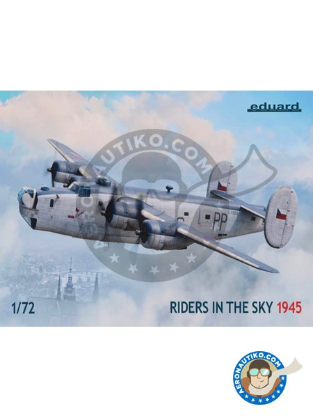 B-24 Liberator Riders in the Sky 1945 | Airplane kit in 1/72 scale manufactured by Eduard (ref. 2123) image