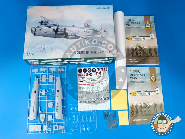 Image 1: B-24 Liberator Riders in the Sky 1945 | Airplane kit in 1/72 scale manufactured by Eduard (ref. 2123)