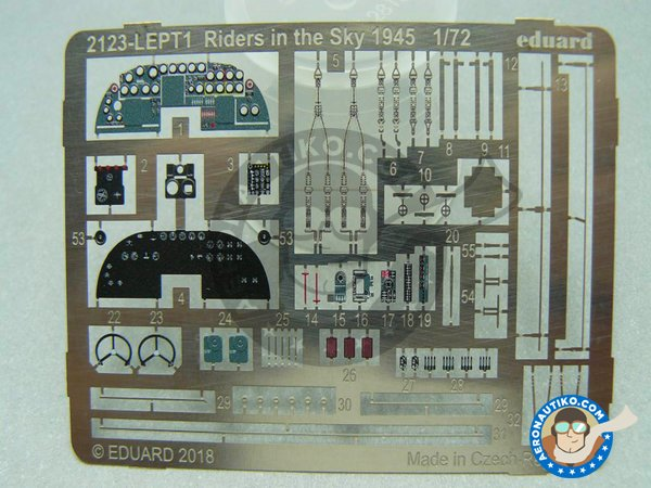 Image 8: B-24 Liberator Riders in the Sky 1945 | Airplane kit in 1/72 scale manufactured by Eduard (ref. 2123)