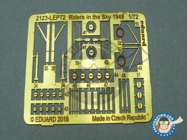 Image 9: B-24 Liberator Riders in the Sky 1945 | Airplane kit in 1/72 scale manufactured by Eduard (ref. 2123)