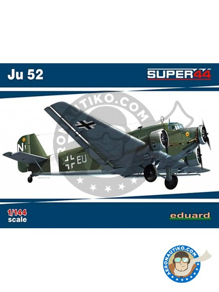 Junkers Ju-52 | Airplane kit in 1/144 scale manufactured by Eduard (ref. 4424) image