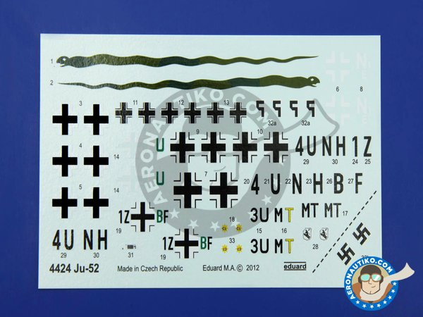 Image 4: Junkers Ju-52 | Airplane kit in 1/144 scale manufactured by Eduard (ref. 4424)