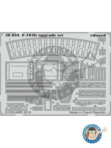 F-104G | Photo-etched parts in 1/48 scale manufactured by Eduard (ref. 48833) image