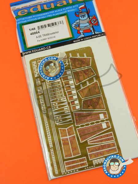 Grumman A-6 Intruder E TRAM | Photo-etched parts in 1/48 scale manufactured by Eduard (ref. 48864) image