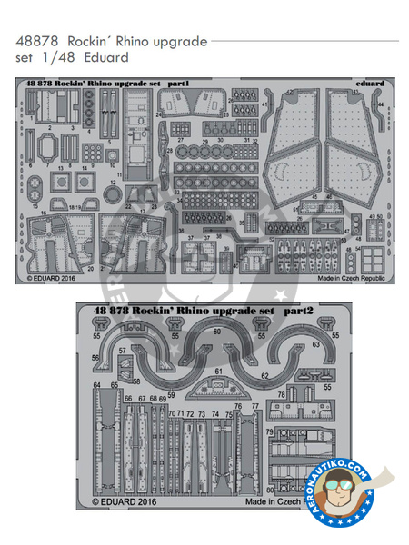 McDonnell Douglas F-4 Phantom II J | Photo-etched parts in 1/48 scale manufactured by Eduard (ref. 48878) image