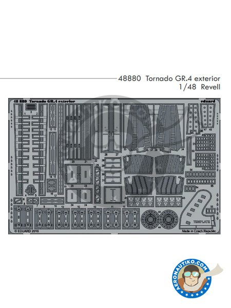 Panavia Tornado exterior GR. 4 | Photo-etched parts in 1/48 scale manufactured by Eduard (ref. 48880) image