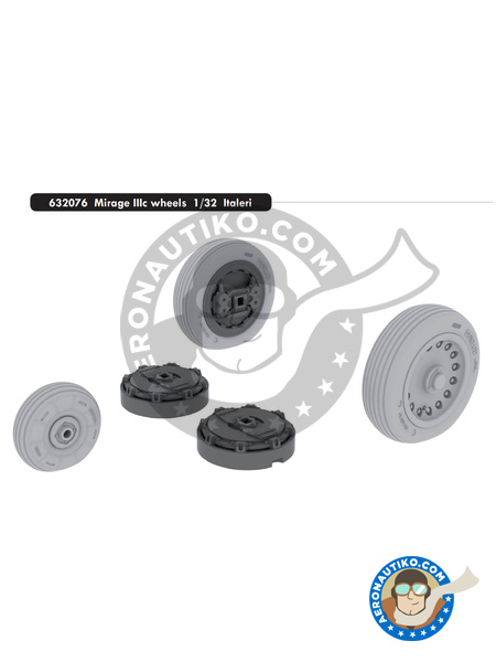Dassault Mirage III C | Wheels in 1/32 scale manufactured by Eduard (ref. 632076) image