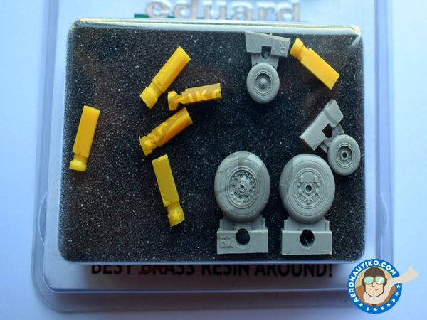 Image 2: F-4J/S Wheels | Wheels in 1/48 scale manufactured by Eduard (ref. 648015)