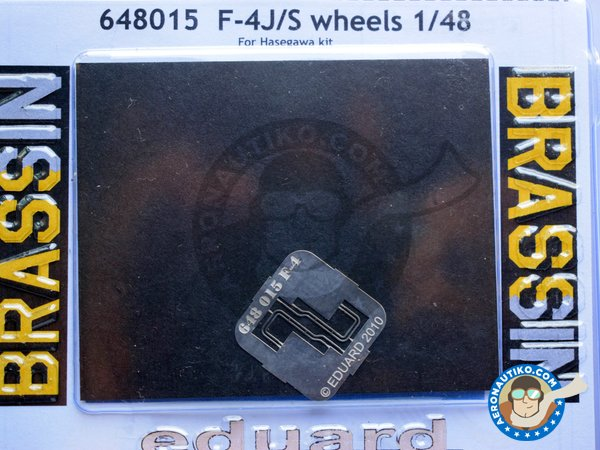 Image 3: F-4J/S Wheels | Wheels in 1/48 scale manufactured by Eduard (ref. 648015)