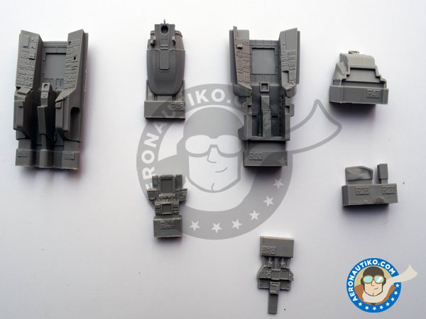 Image 1: Resin cockpit for F-14D | Cockpit set in 1/48 scale manufactured by Eduard (ref. 648457)