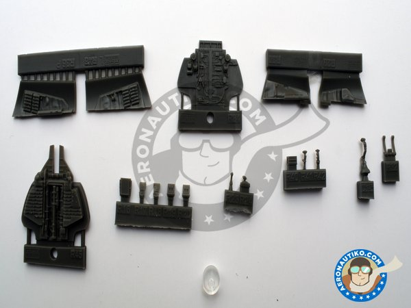 Image 4: Resin cockpit for F-14D | Cockpit set in 1/48 scale manufactured by Eduard (ref. 648457)