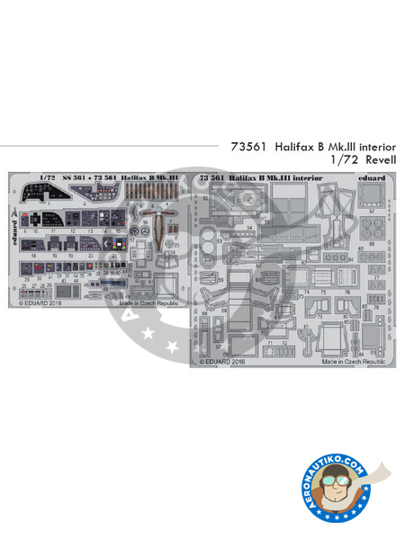 Handley Page Halifax B Mk. III | Photo-etched parts in 1/72 scale manufactured by Eduard (ref. 73561) image