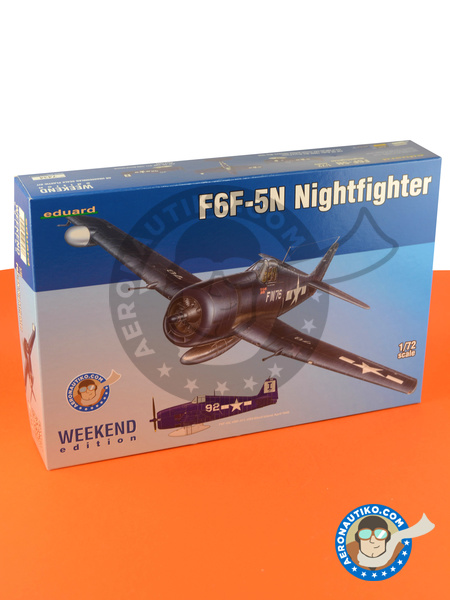 Grumman F6F Hellcat 5 | Airplane kit in 1/72 scale manufactured by Eduard (ref. 7434) image