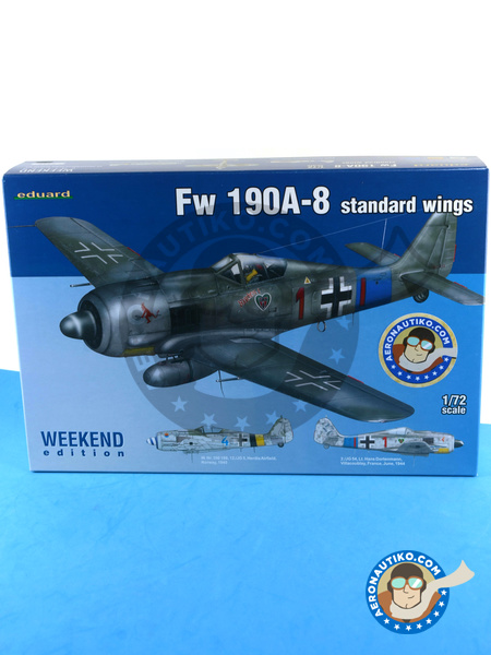 Focke-Wulf Fw 190 Würger A-8 | Airplane kit in 1/72 scale manufactured by Eduard (ref. 7435) image