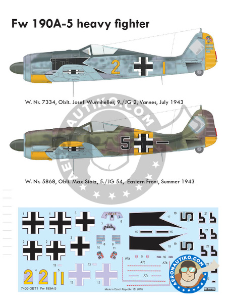 Focke-Wulf Fw 190 Würger A-5 | Airplane kit in 1/72 scale manufactured by Eduard (ref. 7436) image
