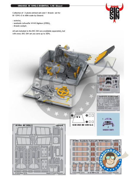 Messerschmitt Bf 109 G-5 | BIG SIN in 1/48 scale manufactured by Eduard (ref. SIN64825) image
