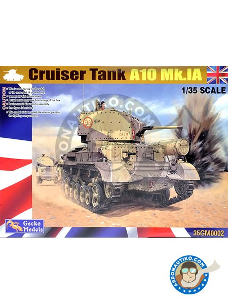 Cruiser Tank Mk  II, A10 Mk IA Tank kit in 1/35 scale manufactured by Gecko  Models (ref  35GM0002)