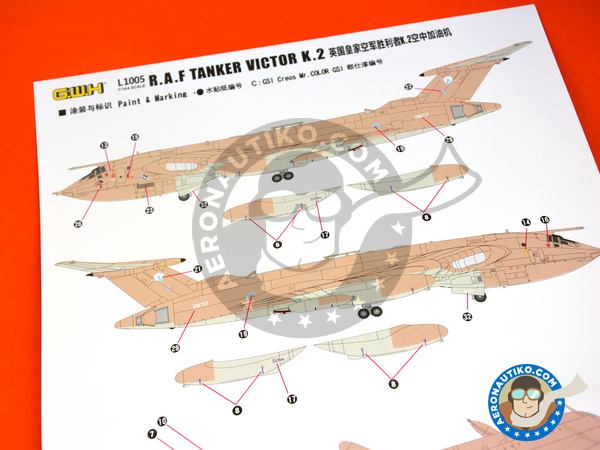Image 4: Handley Page Victor K.2 Tanker | Airplane kit in 1/144 scale manufactured by Great Wall Hobby (ref. L1005)