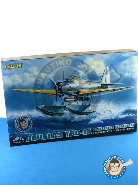 Douglas TBD Devastator 1a Floatplane | Airplane kit in 1/48 scale manufactured by Great Wall Hobby (ref. L4812) image
