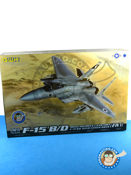 McDonnell Douglas F-15 Eagle B / D | Airplane kit in 1/48 scale manufactured by Great Wall Hobby (ref. L4815) image